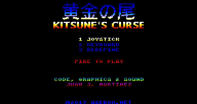Photo of Kitsune's Curse, el próximo juego de Reidrac para Amstrad CPC