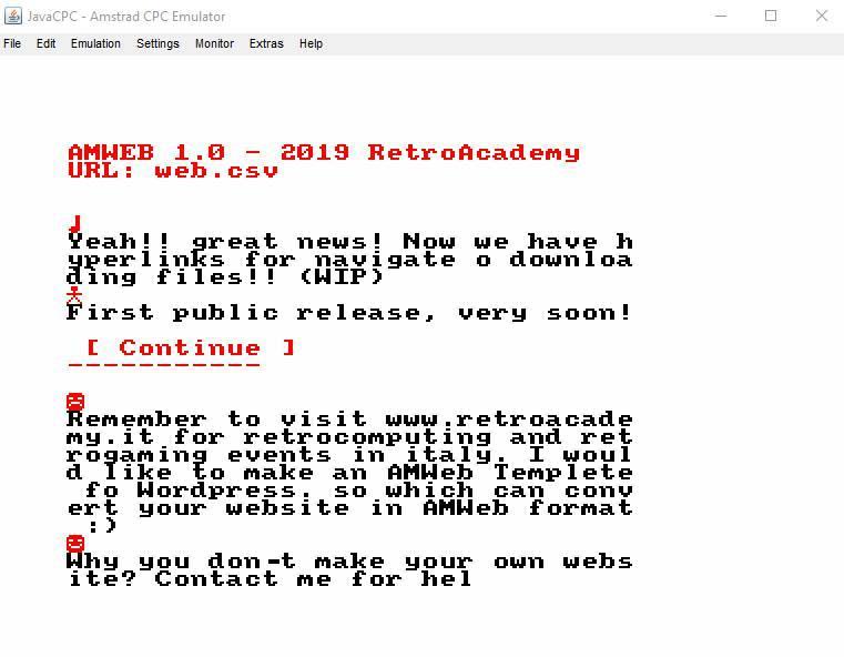 El navegador Amweb vuelve al desarrollo 2