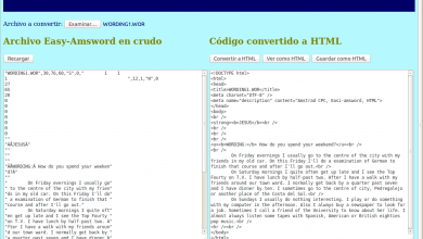 Photo of Conversor de documentos Easi-Amsword a HTML