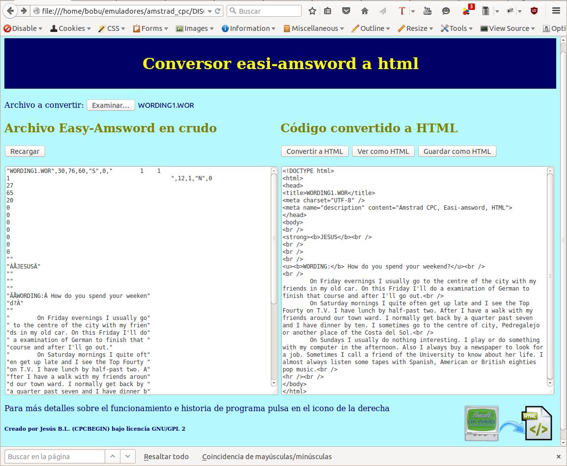 Conversor Easi-Amsword a HTML en acción