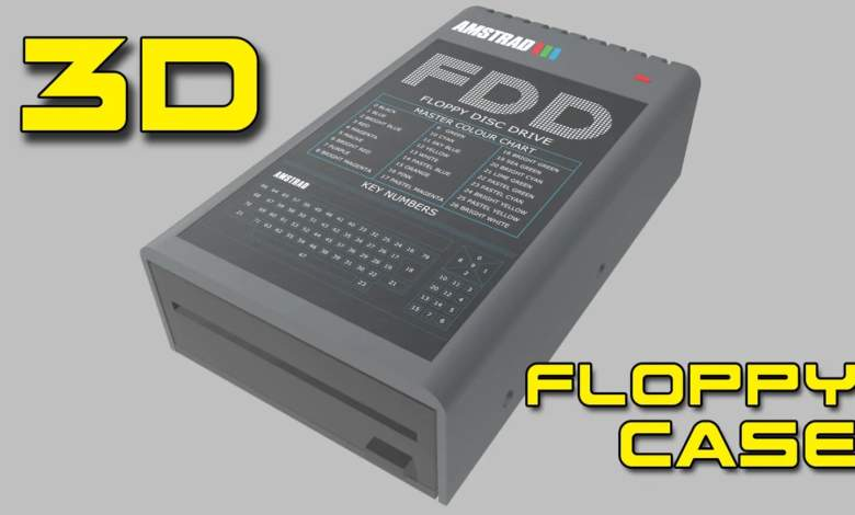 Caja para disquetera en impresión 3D 3