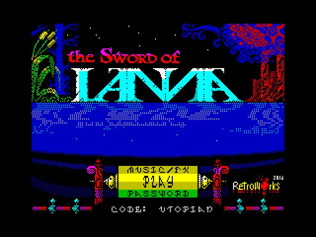 Sowrd Of Ianna, menú