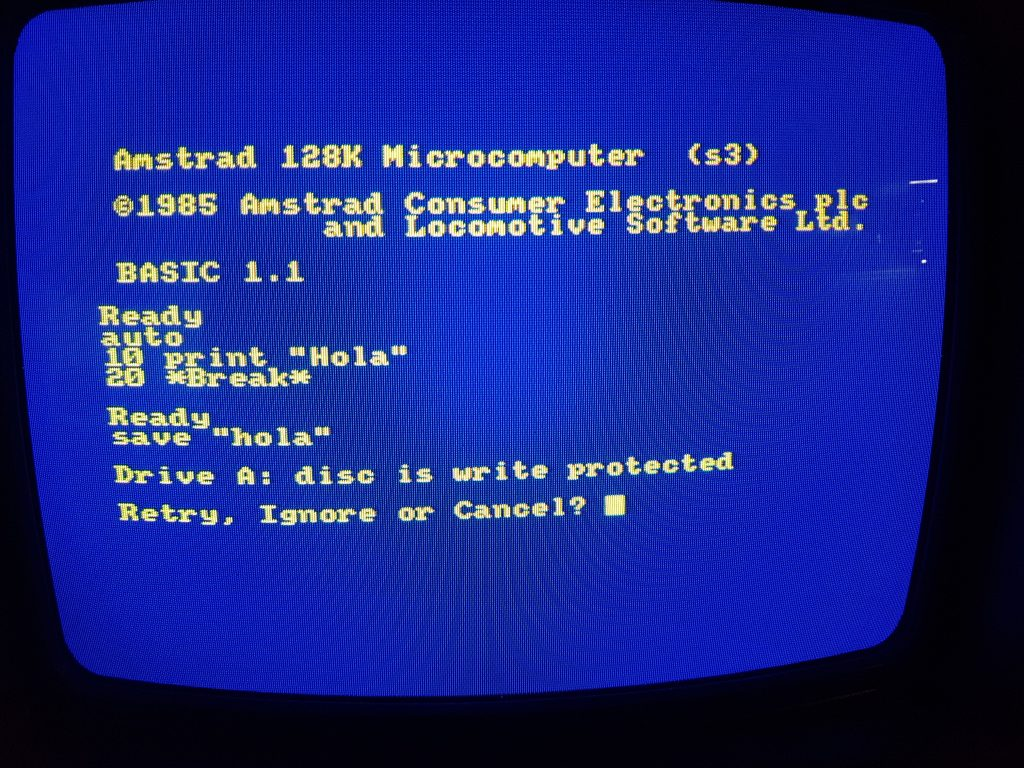 Reparación de disquetera: disc is write protected 3