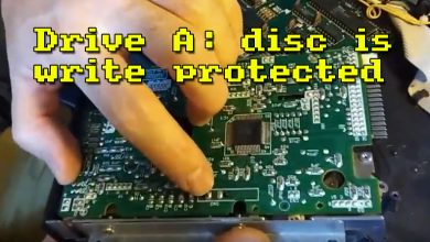 Photo of Reparación de disquetera: disc is write protected