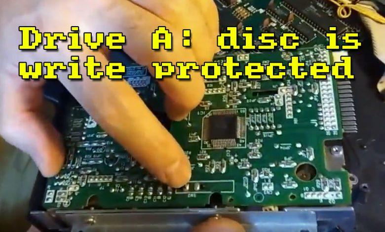 Reparación de disquetera: disc is write protected 1