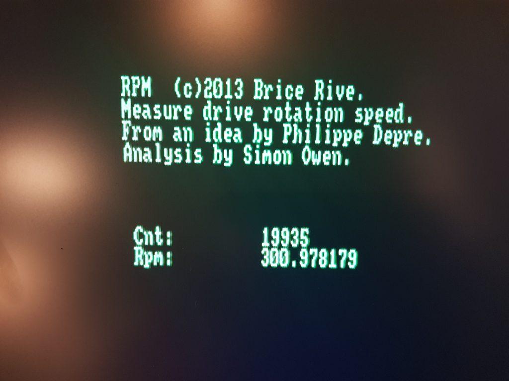 Como ajustar las RPM en Disquetera Amstrad 8