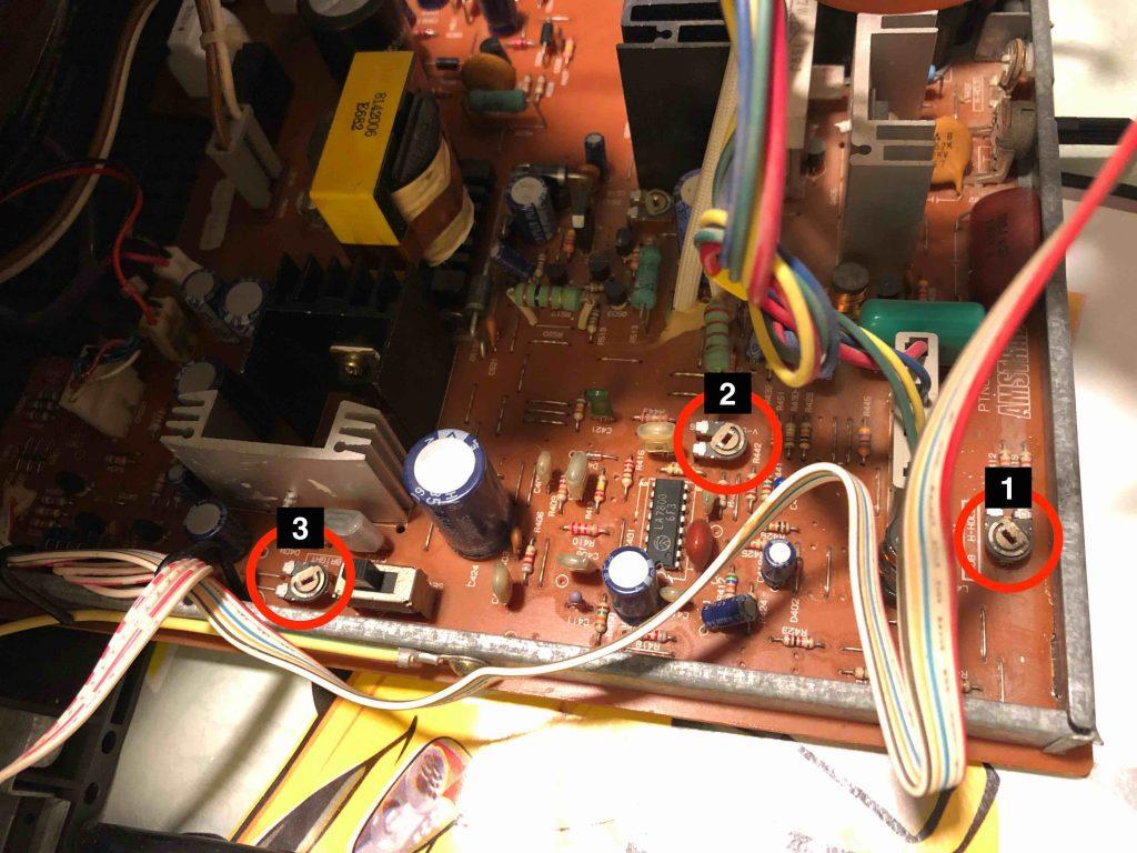 PCB del monitor.