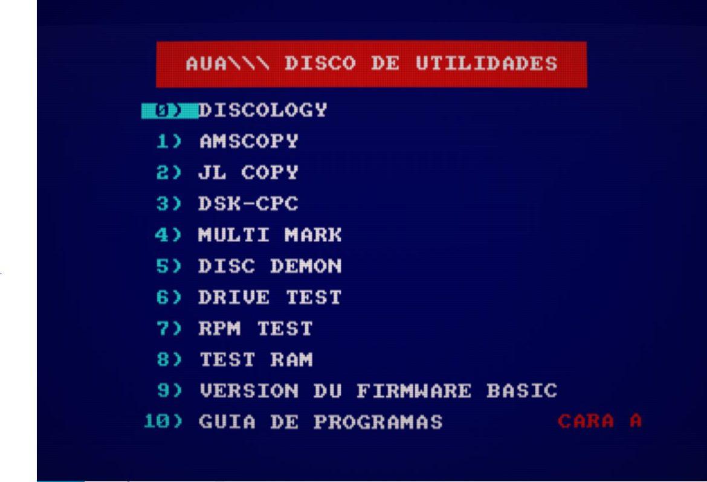 AUA Utilidades 2.1 - Nueva compilación de software para Amstrad 2