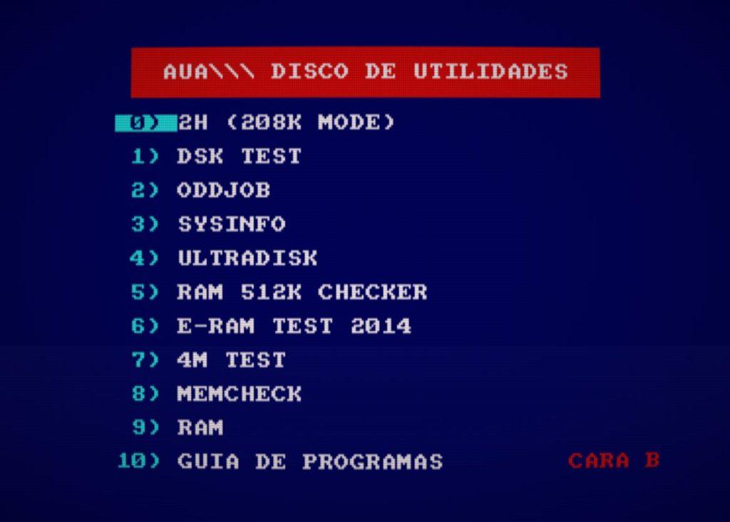 AUA Utilidades 2.1 - Nueva compilación de software para Amstrad 13
