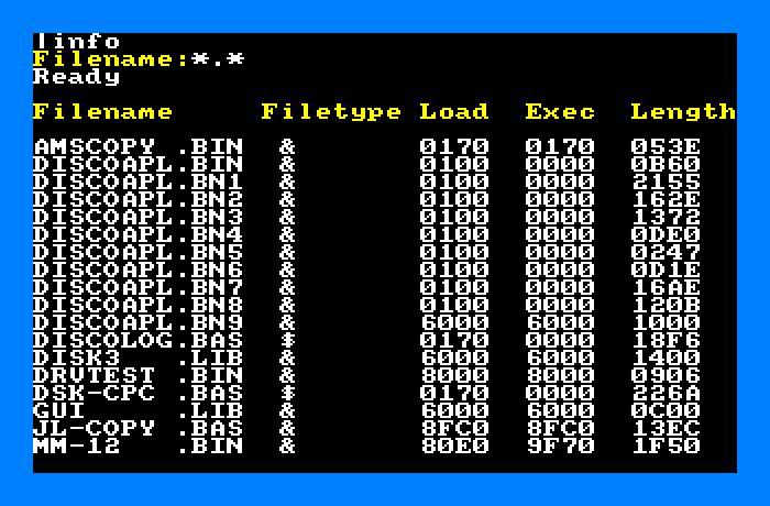 Disc Demon mostrando información de cada archivo del directorio