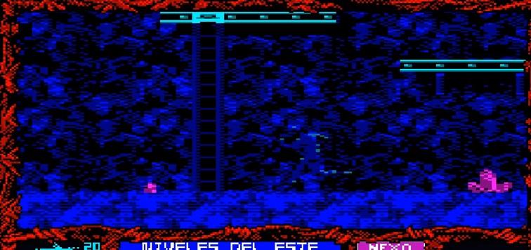 Saboteur 3, gráficos tipo Amstrad CPC