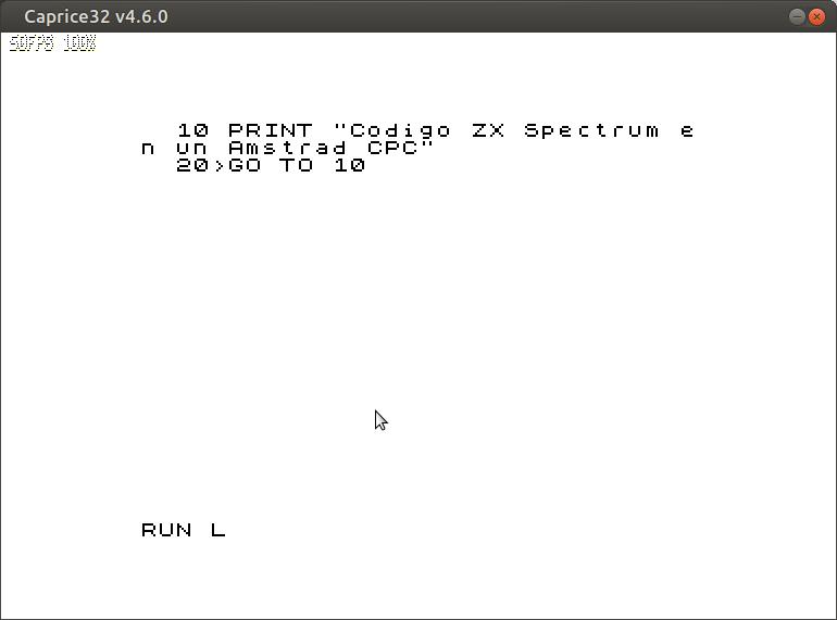 Emuladores en Amstrad CPC 7