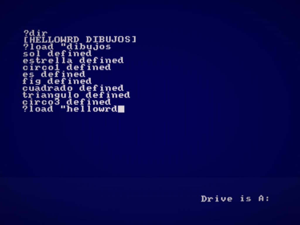 Como ejecutar y usar DR Logo en Amstrad CPC 2