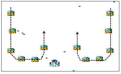 8BP: Rutas de sprites con lógicas masivas 2