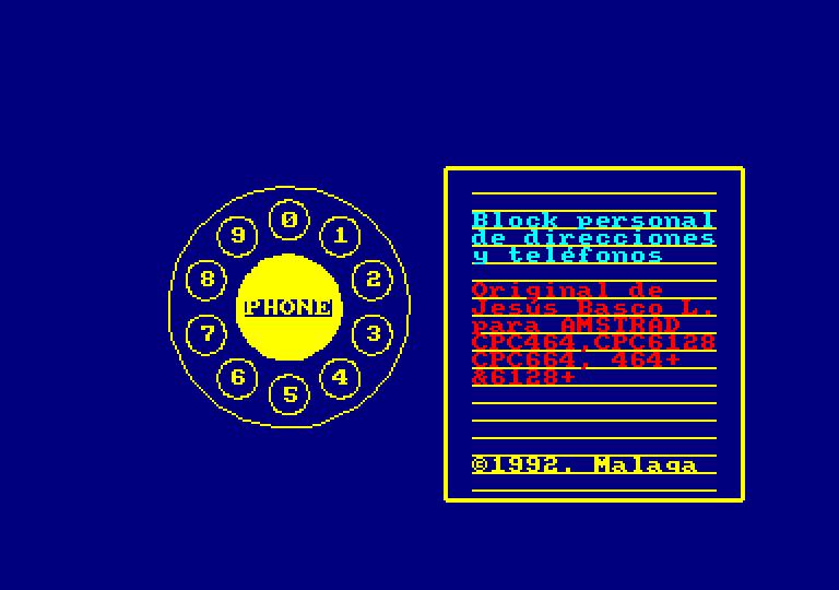 A.E.D.: pantalla de presentación