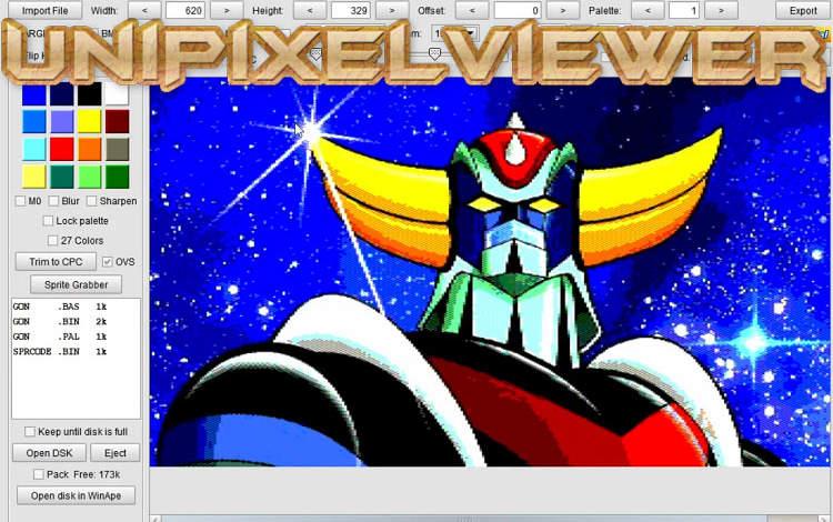 UniPixelViewer, utilidad gráfica 1