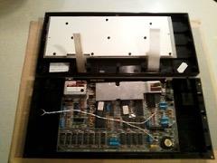 Cambiar la membrana, el ZX Spectrum+ abierto
