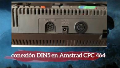 Añadir conexión DIN5 a Amstrad CPC 464 5
