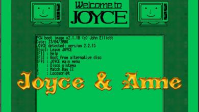 Joyce/Anne: emulador libre y multiplataforma de Amstrad PCW 6