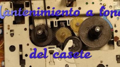 Mantenimiento a fondo del reproductor de casete del CPC 464 3